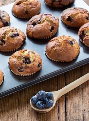 Heidelbeeren-Mais-Muffins