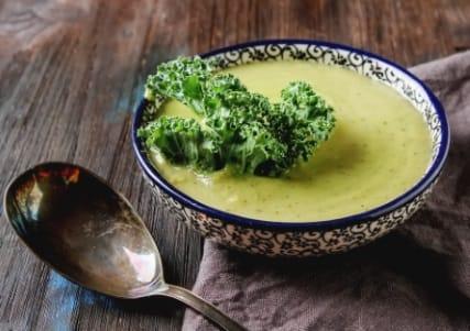 Süsskartoffel-Erbsen-Suppe